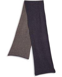 Saks Fifth Avenue - Dot Patterned Wool-blend Scarf - Lyst