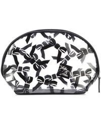 Saks Fifth Avenue - Large Tossed Bow Cosmetic Case - Lyst