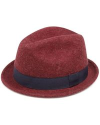 Saks Fifth Avenue - Collection Lamb's Wool Fedora Hat - Lyst