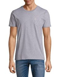 Ben Sherman - ??eathered Crewneck Cotton Tee - Lyst