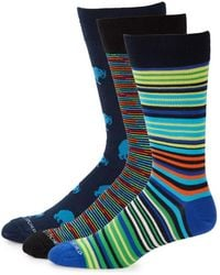 Unsimply Stitched - Three-pack Printed Mid-calf Socks - Lyst