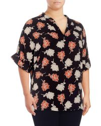 c43979a0251 Calvin Klein Plus Size Leopard-print Tied-waist Tunic Top in Black ...