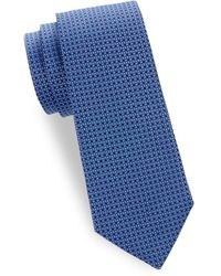 Saks Fifth Avenue - Silk Geometric-print Tie - Lyst
