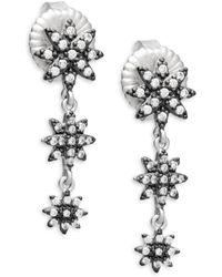 Freida Rothman - Graduated Starburst Crystal And Sterling Silver Drop Earrings - Lyst