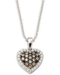 Le Vian - Chocolatier 14k Vanilla Gold®, Chocolate Diamonds® & Vanilla Diamonds® Pendant Necklace - Lyst