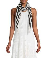Calvin Klein - Striped Logo Scarf - Lyst