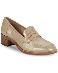 Nine West - Kimmy Metallic Leather Penny Loafers - Lyst