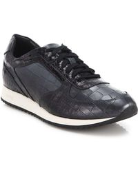 Facto - Embossed Leather Sneakers - Lyst