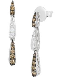 Le Vian - Chocolatier Vanilla Diamond, Chocolate Diamond And Vanilla Gold Earrings - Lyst