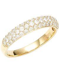 Effy - 14k Yellow Gold Half Diamond Eternity Ring - Lyst