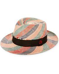 a04da8b40be46a Robert Graham - Woven Banded Fedora Hat - Lyst