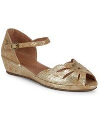 Gentle Souls - Lily Moon Metallic Wedges - Lyst
