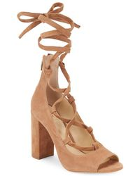 Vince Camuto - Tannen Block-heel Leather Court Shoes - Lyst