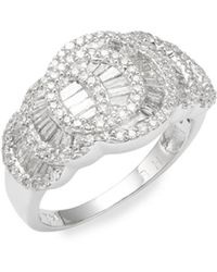 Effy - Diamond & 14k White Gold Solitaire Ring - Lyst