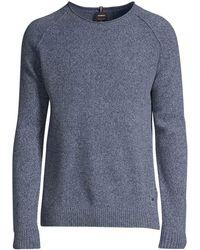 Strellson Bowden Regular-fit Wool Sweater - Blue