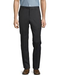 John Varvatos - . Solid Woolen Straight-leg Pant - Lyst