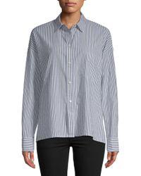 Vince - Stripe Boxy Shirt - Lyst