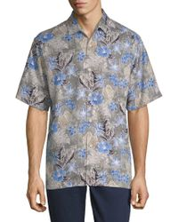 Tommy Bahama - Dahlia Beach Silk Button-down Shirt - Lyst