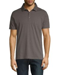 Saks Fifth Avenue - Printed Short-sleeve Cotton Polo - Lyst