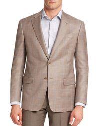 Armani - Plaid Virgin Wool Blazer - Lyst