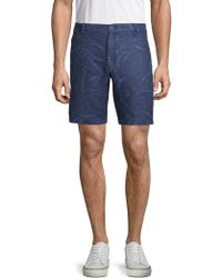 Saks Fifth Avenue - Printed Linen Shorts - Lyst