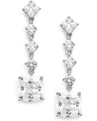 Saks Fifth Avenue - Linear Square Drop Earrings - Lyst