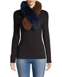 La Fiorentina - Two-tone Dyed Fox Fur Scarf - Lyst