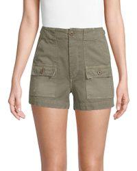 AMO - Cotton Military Shorts - Lyst