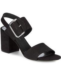 93c4495139f Stuart Weitzman - City Leather Ankle Strap Sandals - Lyst