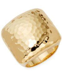 Roberto Coin - 18k Yellow Gold Martellato Ring - Lyst
