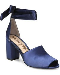 70e7487953a Ted Baker Suede Wrap Around Gladiator Sandals in Blue - Lyst