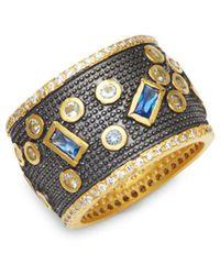 Freida Rothman - Modern Mosaic Cubic Zirconia Ring - Lyst