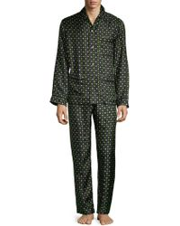 Valentino - Two-piece Graphic Silk Pajama Set - Lyst