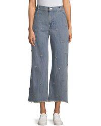 Sandy Liang - Ghost Swarovski Crystal Embellished Jeans - Lyst