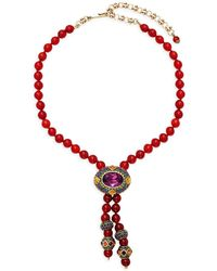 Heidi Daus - Oval Rhinestone Dangle Necklace - Lyst