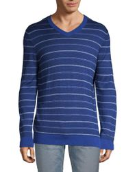 Bugatchi - Striped Silk, Cotton & Cashmere Jumper - Lyst
