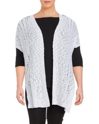 Vince Camuto - Long Open-front Cardigan - Lyst