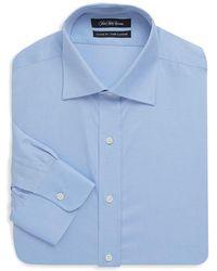 Saks Fifth Avenue Black - Solid Twill Cotton Dress Shirt - Lyst