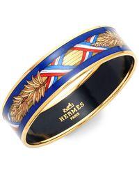 Hermès - Vintage Wheat Enamel Bracelet - Lyst