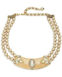 Heidi Daus - Signature Collar Faux Pearl Necklace - Lyst