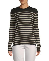 Zadig & Voltaire - Miss Striped Cashmere Sweater - Lyst