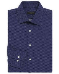 Ike By Ike Behar - Regular-fit Micro-patterned Shirt - Lyst