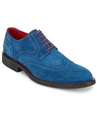 Bugatchi - Suede Wingtip Oxfords - Lyst