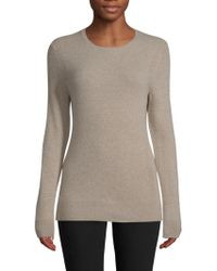 Saks Fifth Avenue - Crewneck Cashmere Sweater - Lyst