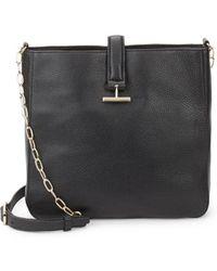 Halston - Leather Crossbody Bucket Bag - Lyst