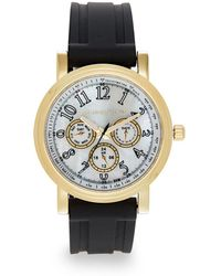 Saks Fifth Avenue - Goldtone-finished Stainless Steel Strap Watch - Lyst