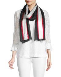 Calvin Klein - Varsity Striped Fringe Scarf - Lyst