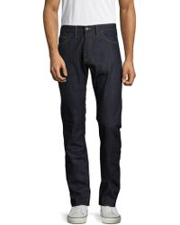 Shockoe Atelier - Textured Cotton Denim Pants - Lyst