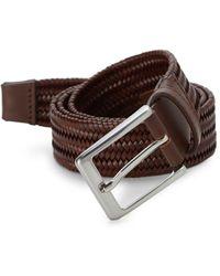 Saks Fifth Avenue Basket Weave Leather Belt