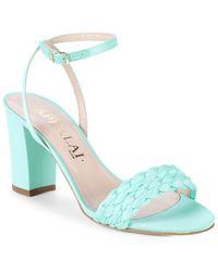 Aperlai - Braided Open-toe High Heel Sandal - Lyst